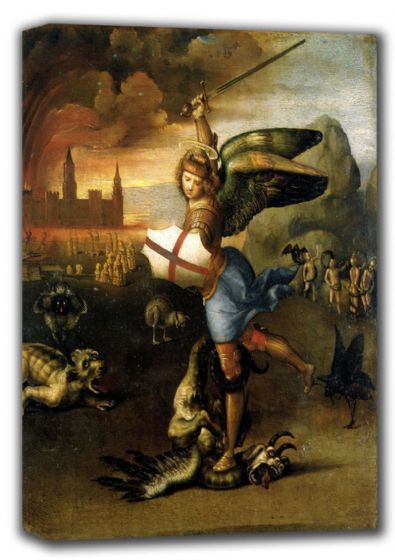 Raphael: St. (Saint) Michael. Fine Art Canvas. Sizes: A4/A3/A2/A1 (001298)